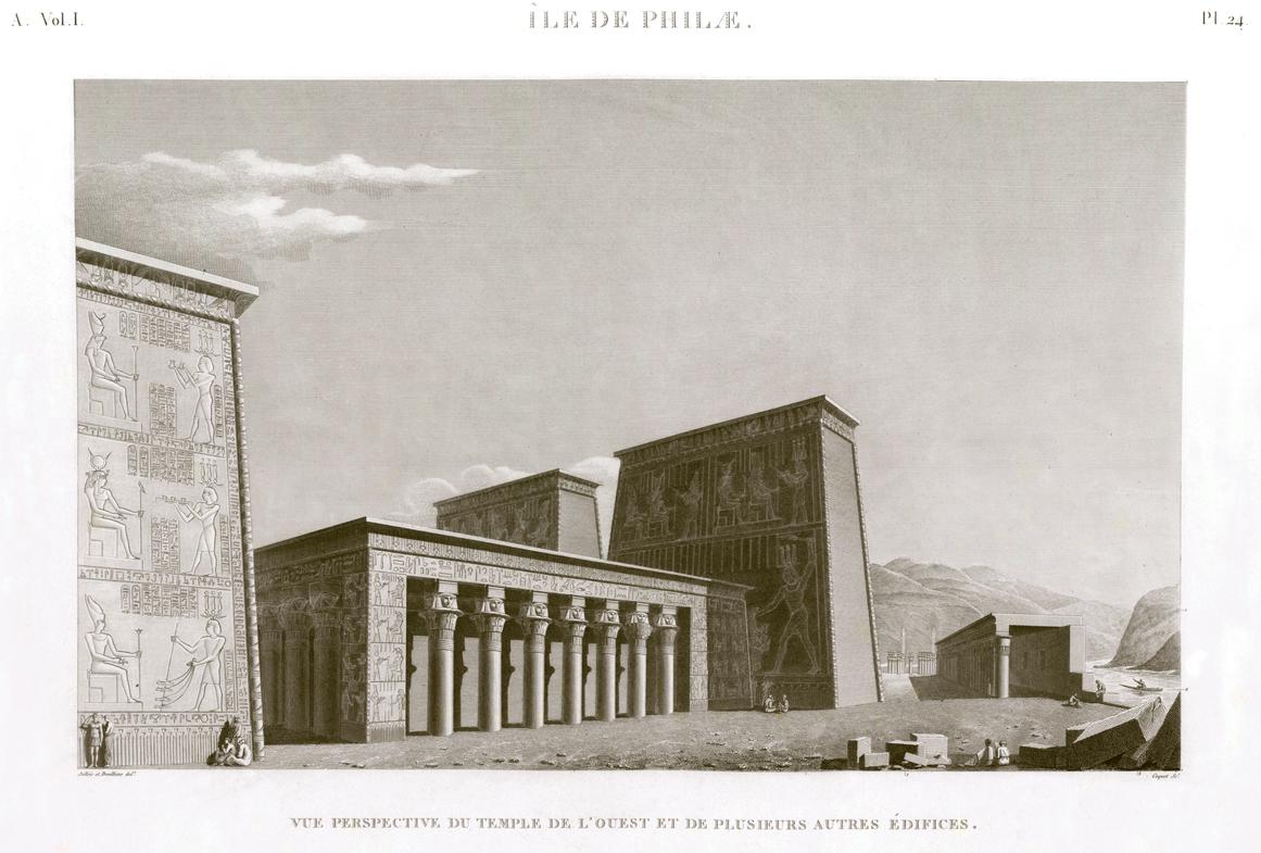 Western temple philae island