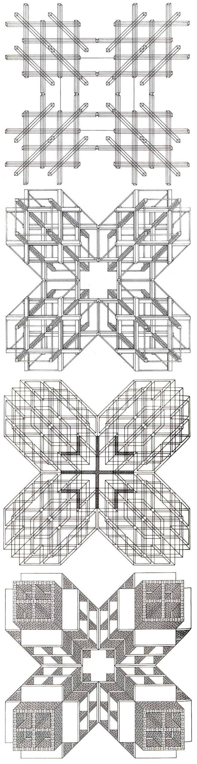 Stanley Tigerman and GL Crabtree Structures Cruciform 2