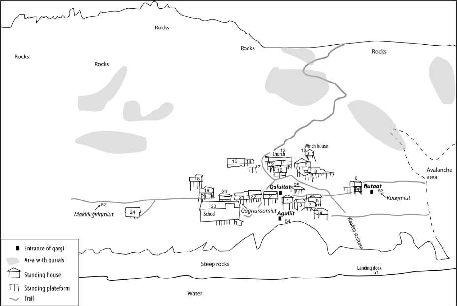 Map Plan Ukivok Stilt Village