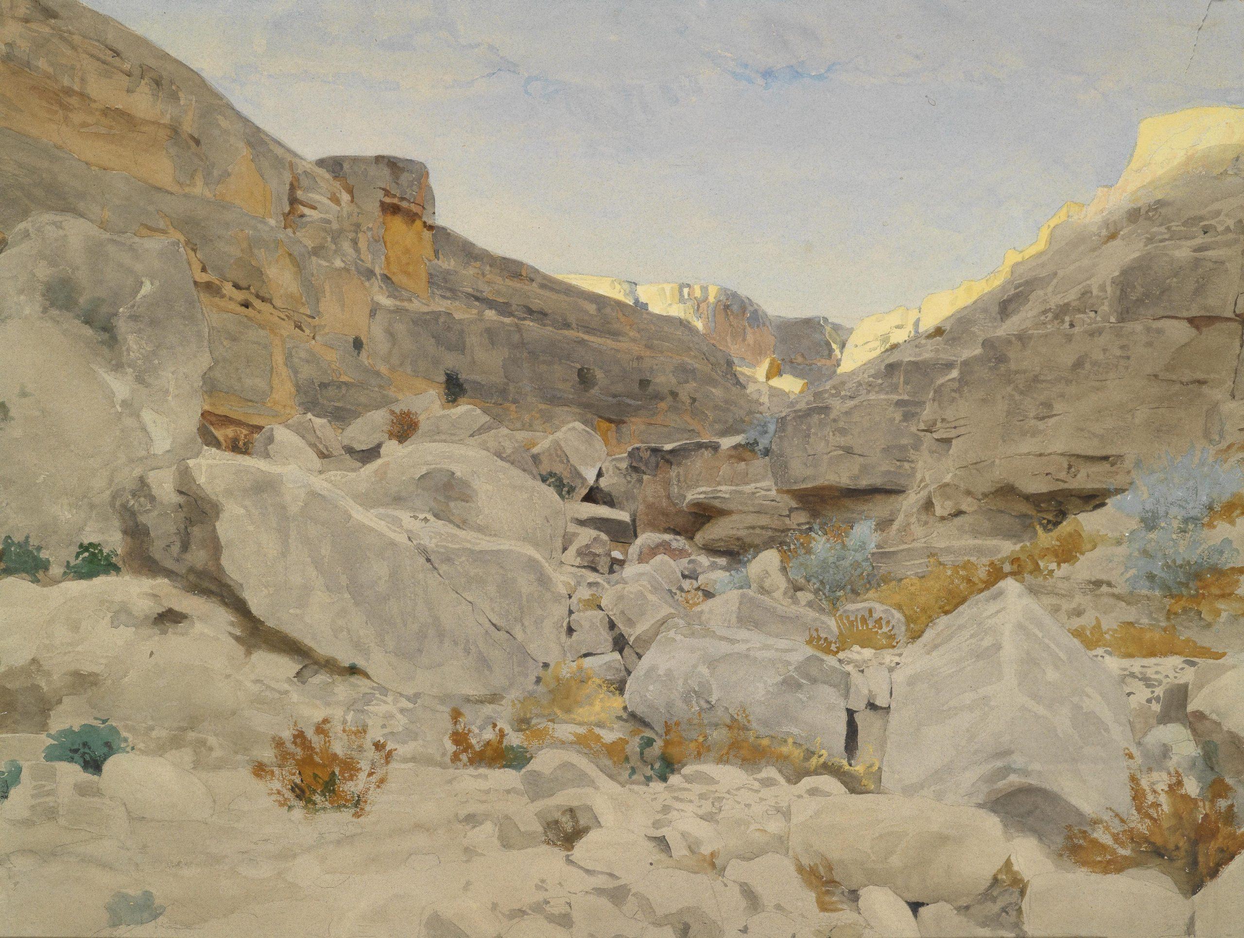 Adolf Meckel von Hemsbach Landschaft in Sinaï 1893