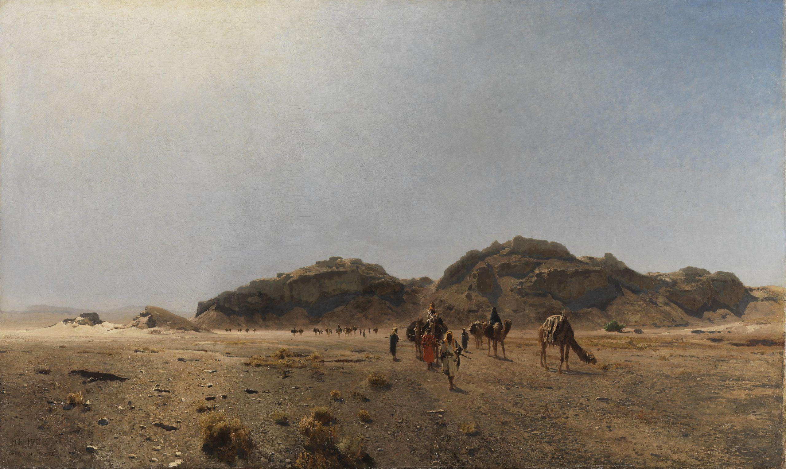 In the Araba Desert - Eugen Bracht, 1882