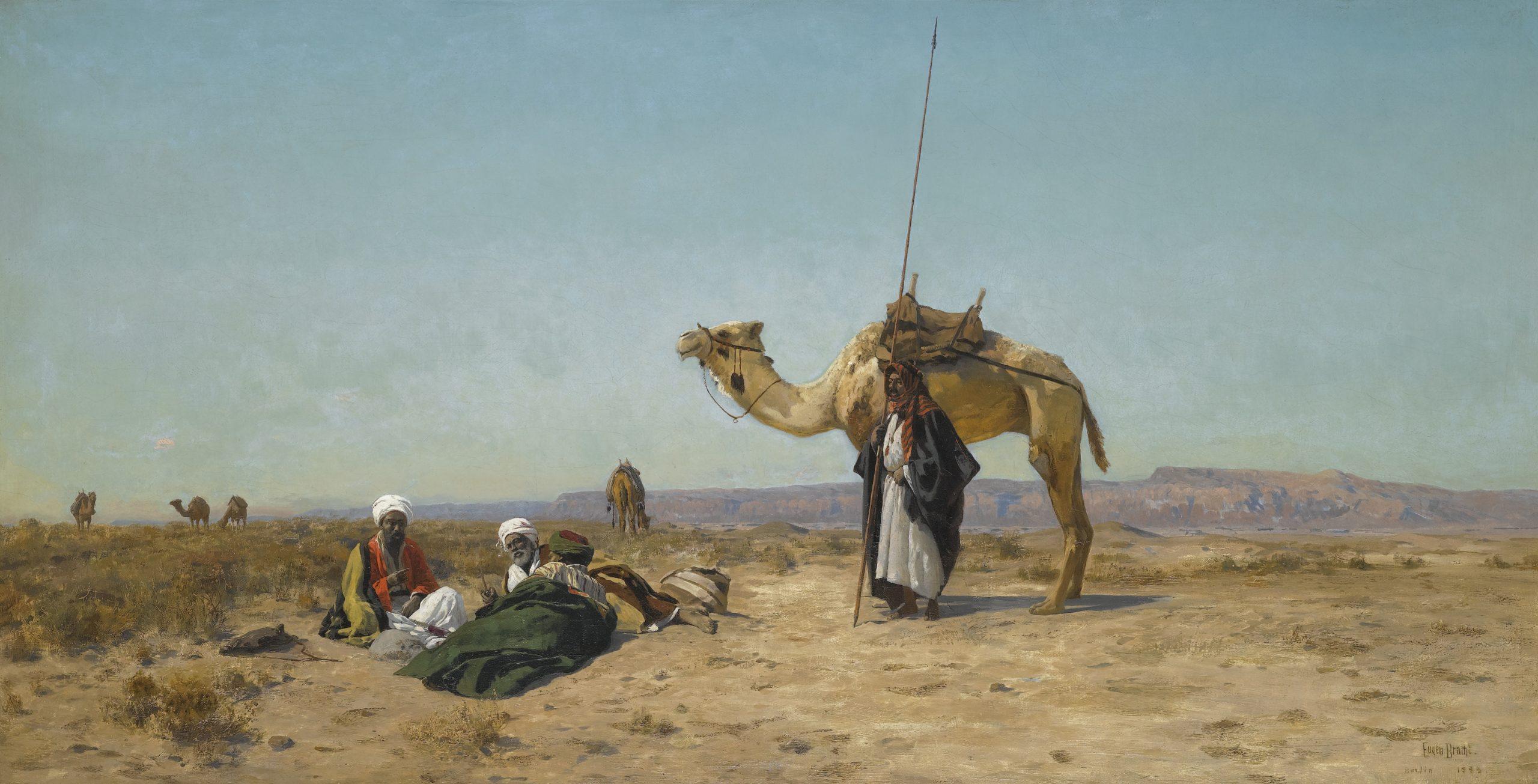 Rest in the Syrian Desert - Eugen Bracht, 1883