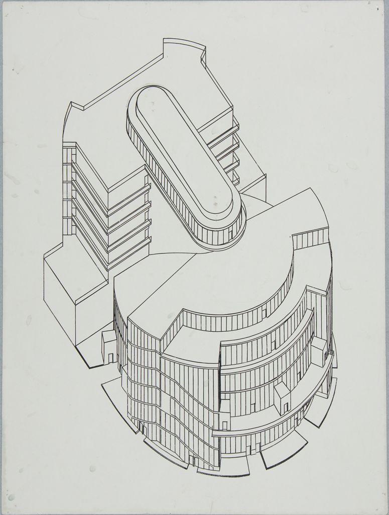 Walter Gropius Total Theater for Erwin Piscator, Berlin, 1927