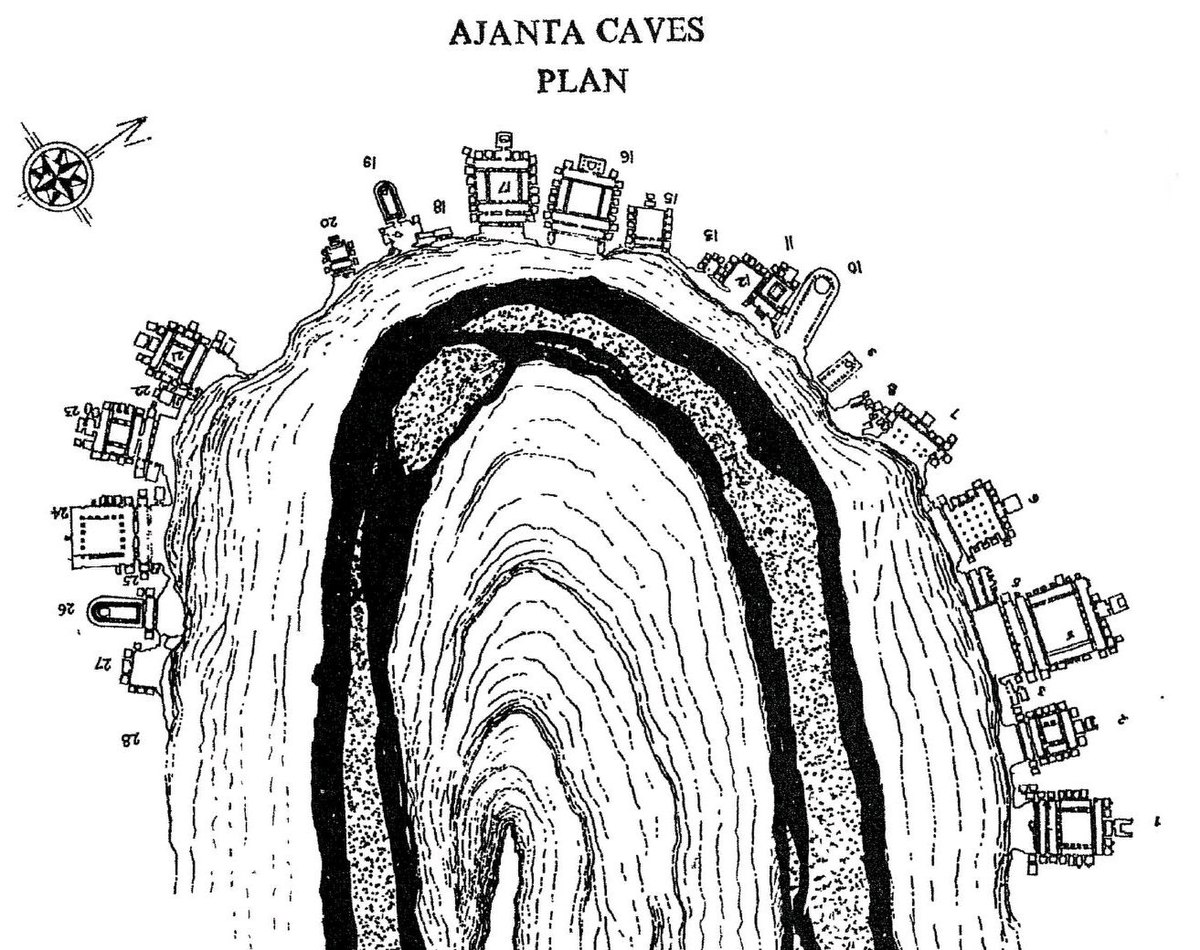 Map and Plan of Ajanta Caves