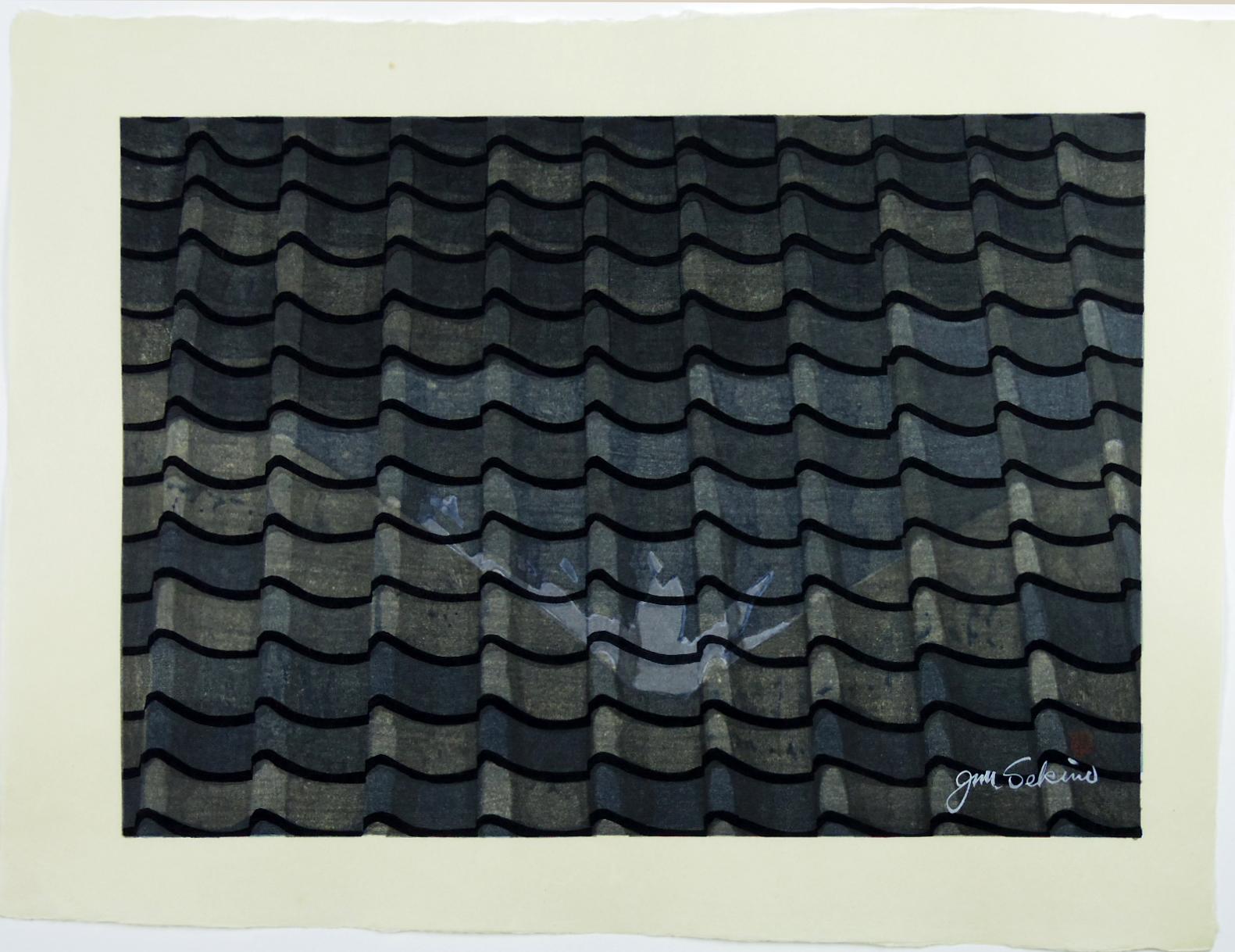 Junichiro Sekino Hara Roof-Tile Reflection of Mt. Fuji