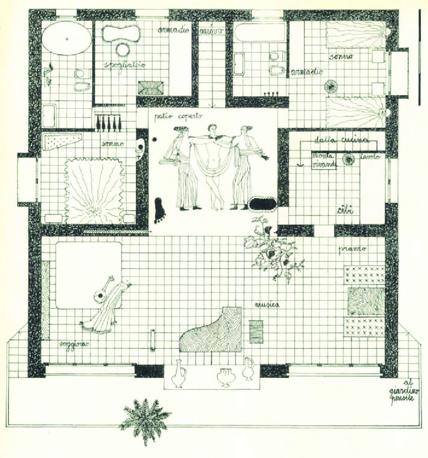 casa sul mare di sicilia Lina Bo Bardi Domus Plan
