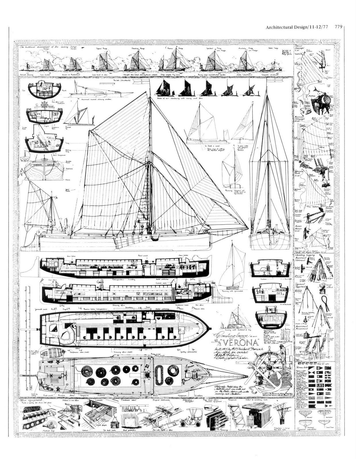 Ralph Erskine Verona Boat Plan Section