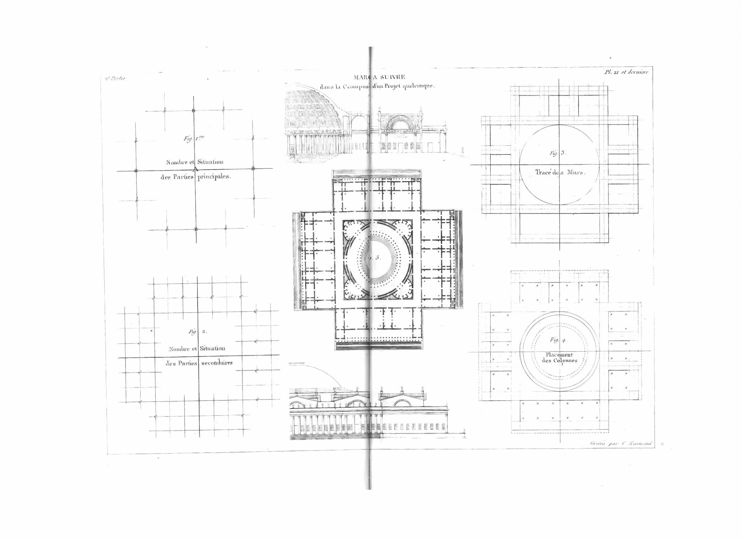 Jean-Nicolas-Louis Durand Précis des leçons d'architecture