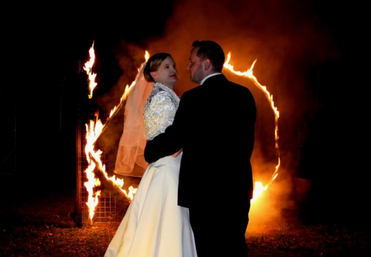 Feuervariete Feuershow Cedrus Inflamnia Hochzeitspaar Initialen 71