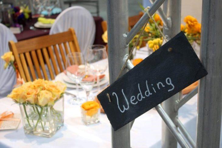 Schild Wedding