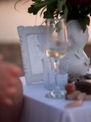 Sekt Tisch Heiratsantrag Strand Kreta Arrangement Dekoration Planung Service Griechenland Greece