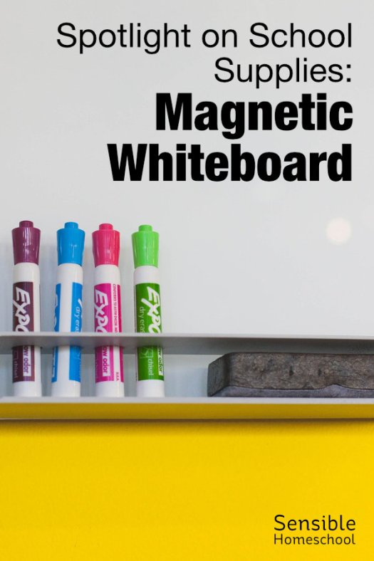 Spotlight on School Supplies: Magnetic Whiteboard with markers and eraser