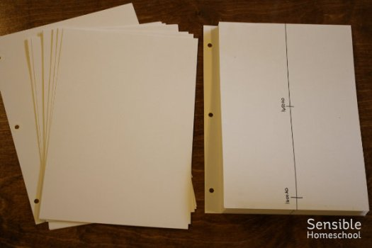 DIY history timeline project before and after