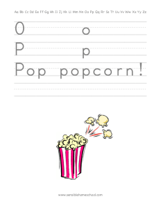 handwriting practice page letters o and p