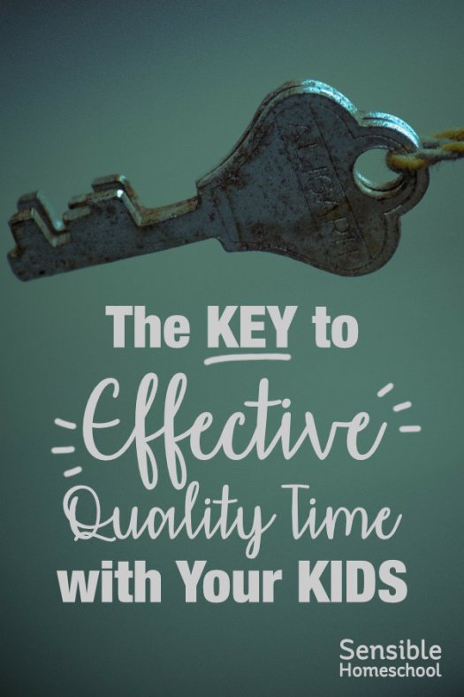 The Key to Effective Quality Time with Your Kids on aqua background with old-fashioned key