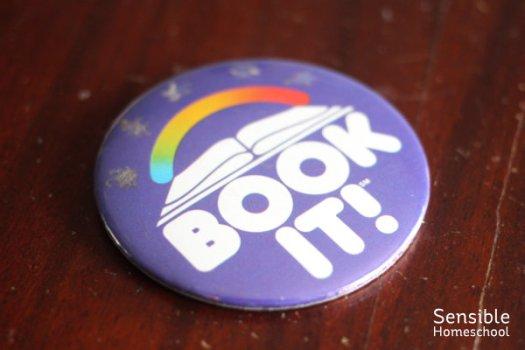 "Pizza Hut ""Book It!"" program award button"
