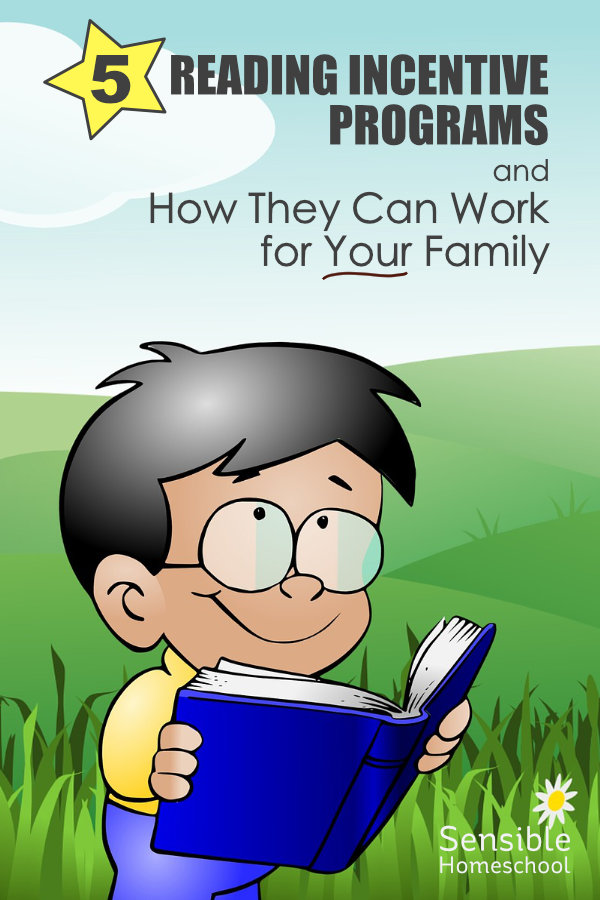 5 Reading Incentive Programs and How They Can Work for Your Family - text with cartoon kid reading