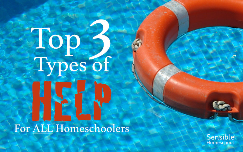 Top 3 Types of Help for All Homeschoolers on swimming pool background with flotation ring