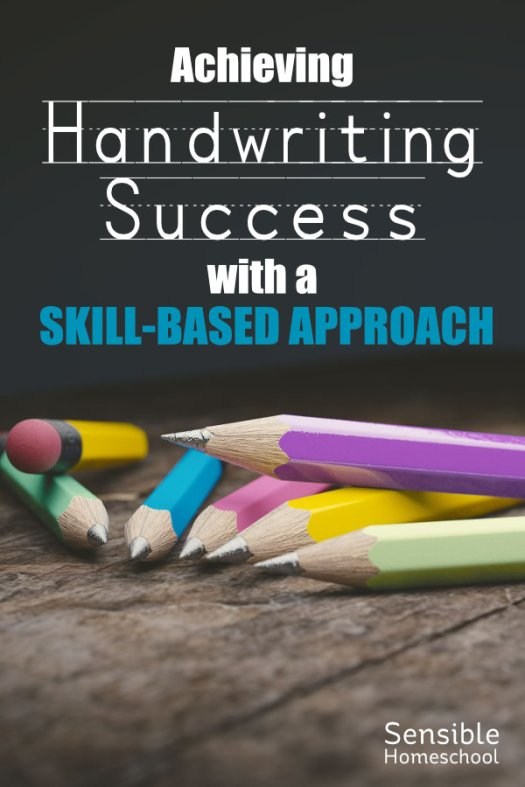 Achieving Handwriting Success with a Skill-Based Approach - title on dark background with pencils