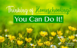 Thinking of Homeschooling? You Can Do It! title on meadow background