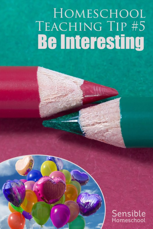 Homeschool Teaching Tip #5: Be Interesting with balloons image
