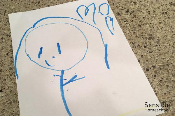 Preschool drawing of mom