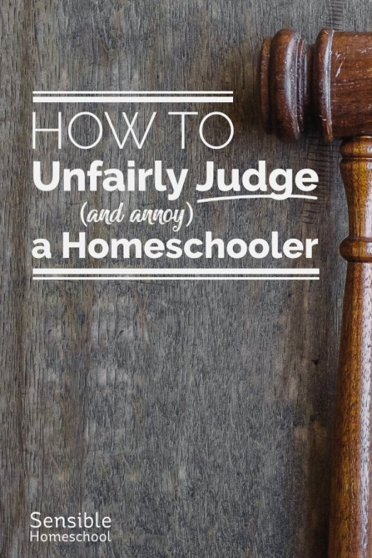 How to unfairly judge and annoy a homeschooler title with judge's gavel
