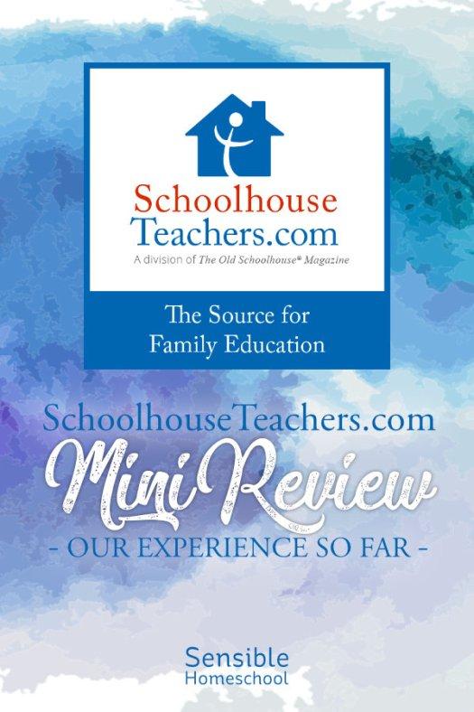 Schoolhouse Teachers Mini-Review title on watercolor background