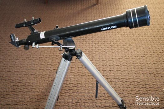 Homeschool science telescope
