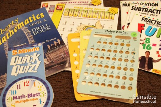 homeschool arithmetic drill books and resources for elementary students