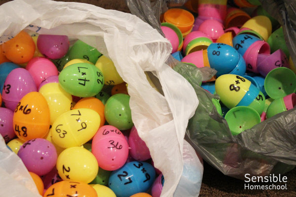 multiplication and addition plastic egg activity