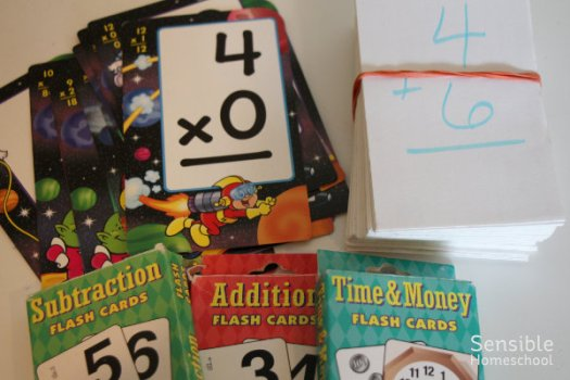 Homeschool math flash cards