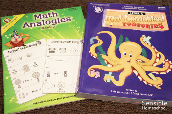 Critical Thinking Co. math workbooks, math analogies and mathematical reasoning Level C