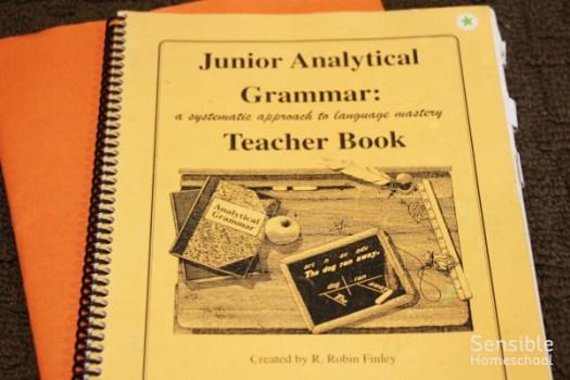 Junior Analytical Grammar homeschool curriculum