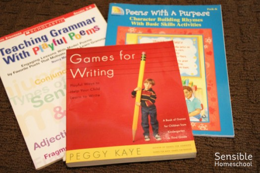 Poetry and Games for Writing language arts homeschool books