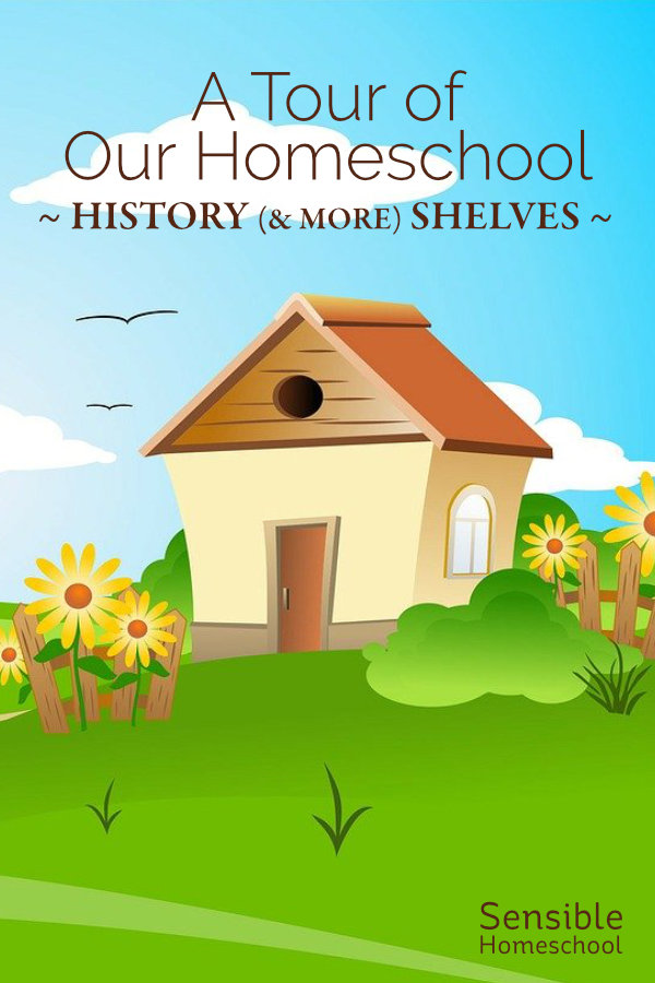 A Tour of Our Homeschool: History (& More) Shelves