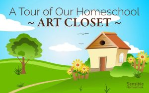 A Tour of Our Homeschool Art Closet