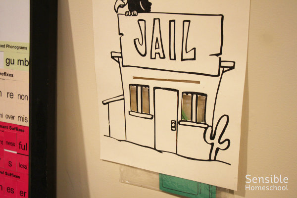 All About Spelling jail poster for English words that break spelling rules