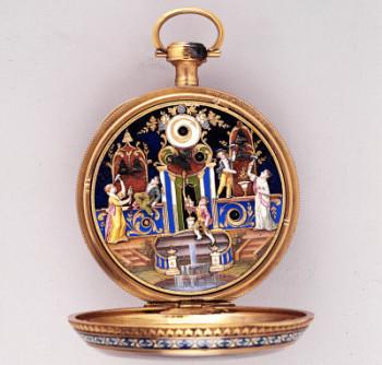 11.Orologio da tasca con automi e carillon