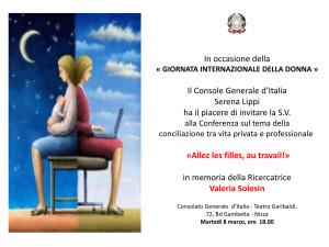 Il Console Generale d'Italia Serena Lippi  Ha il piacere di in