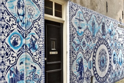 Delftsblauwe Bonte Ossteeg