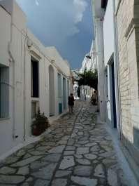 Isola di Tinos Stradina a Pyrgos