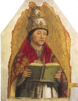 Id 024. Antonello da Messina San Gregorio Magno Galleria Regionale Sicilia Palazzo Abatellis Palermo