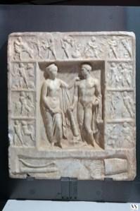 Ercole e Onfale, rilievo marmoreo, inv. 6683, II sec. d.C., cm 72x64x8, MAN, Napoli_800