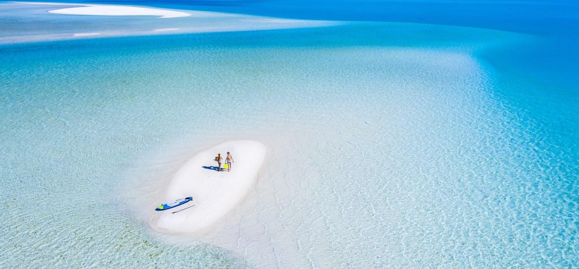 Laguna di Aitutaki nelle isole Cook