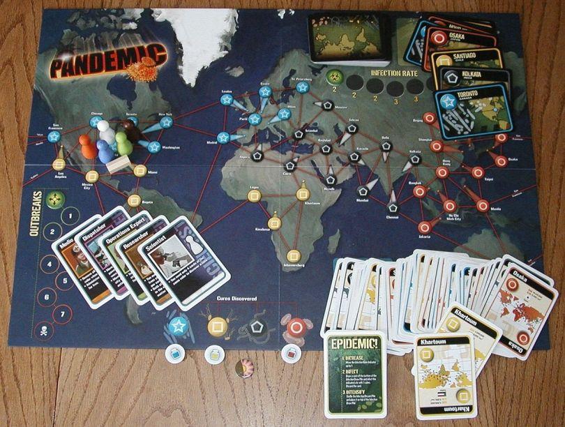Pandemic: collaborare per vincere la pandemia in un gioco da tavolo