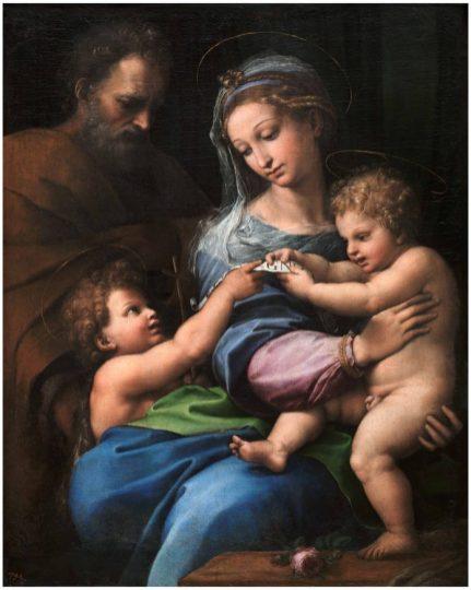 Raffaello-Madonna-della-Rosa-1518-1520-olio-su-tavola-trasportata-su-tela-Madrid-Museo-Nacional-del-Prado--696x872
