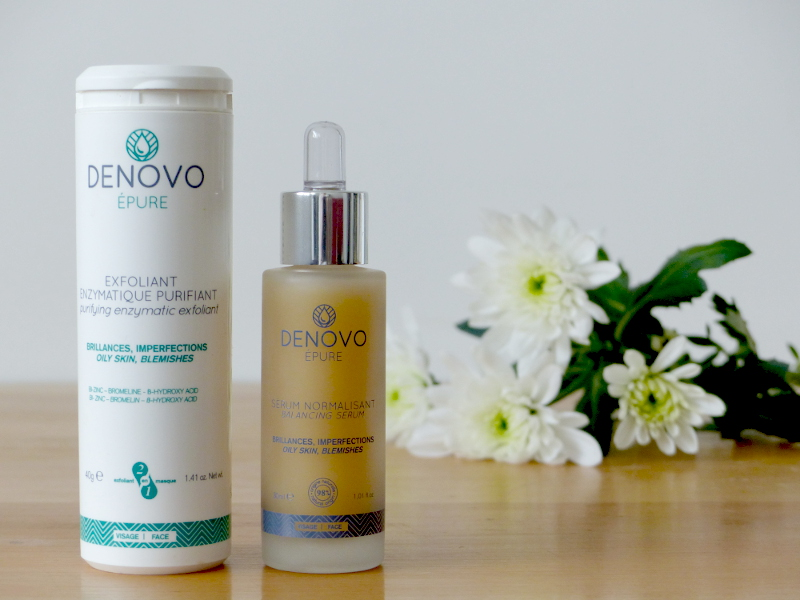 denovo cosmetiques gamme visage epure