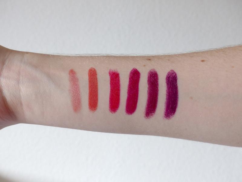 swatches red apple lipstick rouges a levres vegan et naturels