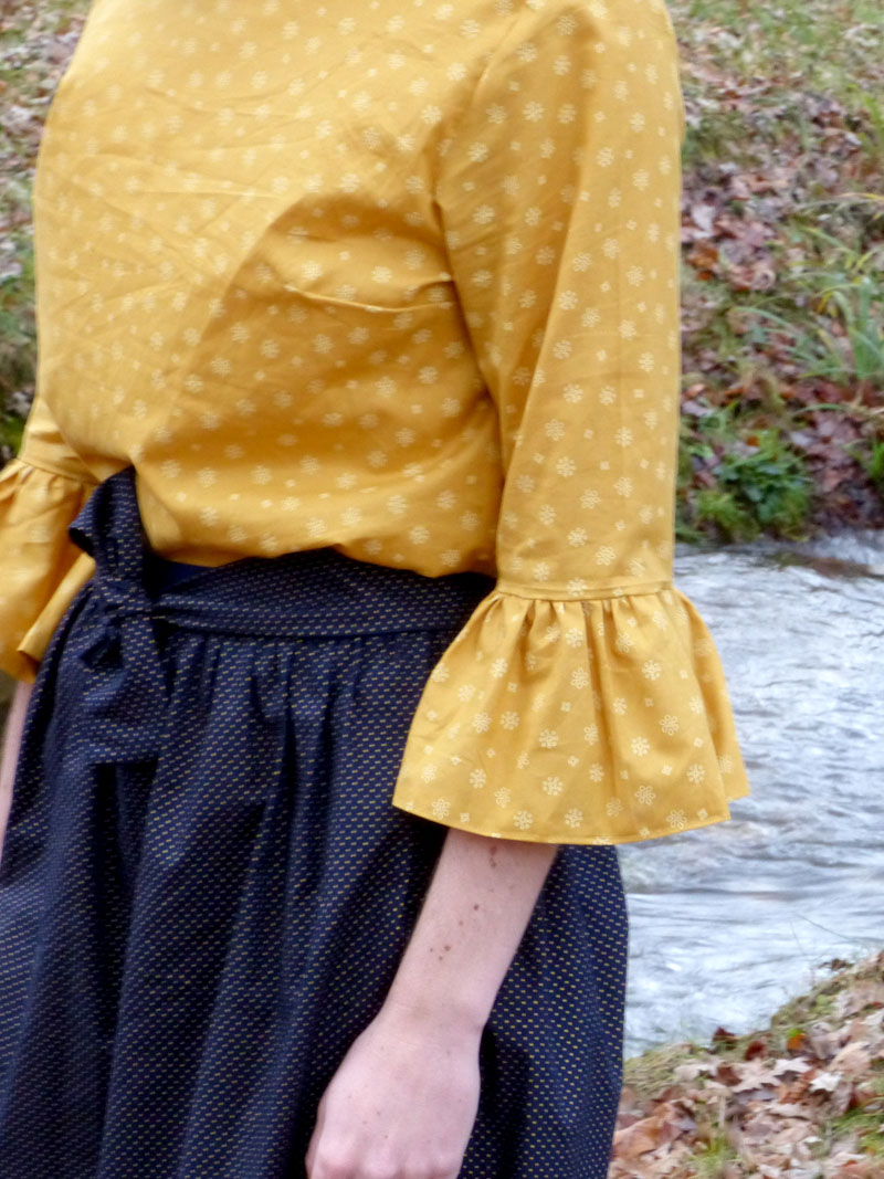 Couturière débutante: ma première tenue cousue main pour noël, entre volumes et imperfections !